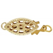 14/20 Gold Filled Filigree Fish Shape Pearl Clasp