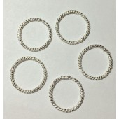 Sterling Silver Twisted (Close) Jump Rings