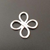 Sterling Silver Clover Ring 16x13 MM