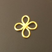 Sterling Silver Clover Ring 16x13 MM Gold Plated