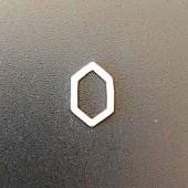 Sterling Silver Brush Hexagonal Spacer Link 11 x 7 MM