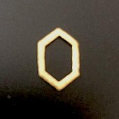 Sterling Silver Brush Hexagonal Spacer Link 11 x 7 MM Gold Plated