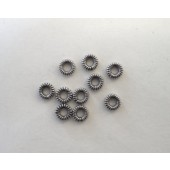 "Sterling Silver Coil Ring 6 mm-Oxidized ( 6"" Strand - Approx. 24 Grams / 88 Pieces)"