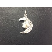 Sterling Silver Moon Face
