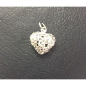 Sterling Silver Puffed Heart