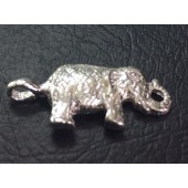 Sterling Silver Textured Elephant