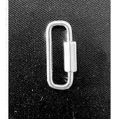 Sterling Siver Carabiner Clasp 22 x 8.6 mm