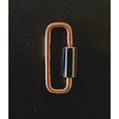 Sterling Silver Carabiner Clasp 22 x 8.6 mm Rose Gold & Black Screw