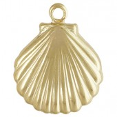Gold Filled Shell Charm 11.0x11.0mm
