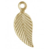 Gold Filled Leaf Charm (Left) 5.0x10mm