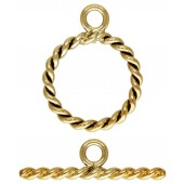 14/20 Gold Filled Toggle Clasps - Twisted