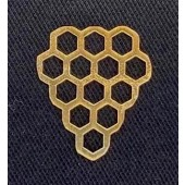Sterling Silver Bee Hive 17 x 15 mm  Gold Plated
