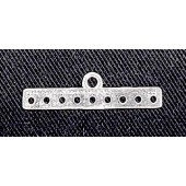 Sterling Silver Bar Spacer 9 Hole