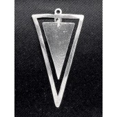 Sterling Silver Double Triangle 24 x 15 mm