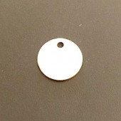Sterling Silver Plain Round Disc 12 mm