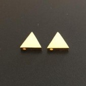 Sterling Silver Plain Triangle 7 mm Gold Plated