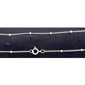 Sterling Silver Satelite Chain Finish With Clasp 18""