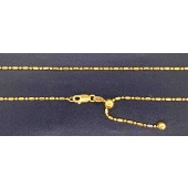 Sterling Silver Beaded Adjustable Chain Gold Plated