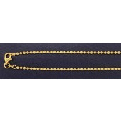 Sterling Silver Diamond Cut Bead Chain 2 mm Finish With Clasp Gold Plated