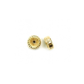 14 K Yellow Gold Corrugated Roundels