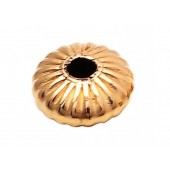 14 K Yellow Gold Corrugated Saucers