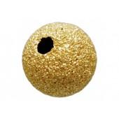 14 K Yellow Gold Stardust (Laser Cut) Beads